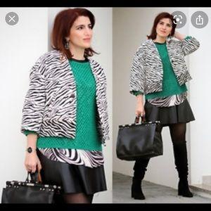 Zara zebra print boxy jacket